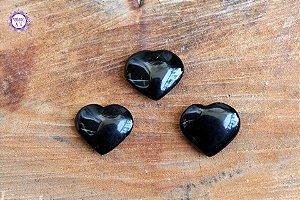 Coração de Obsidiana Negra Natural 5g | Proteção e Eliminação da Negatividade