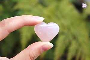 Coração de Quartzo Rosa Natural 10g | Pedra do Amor e Cura Emocional