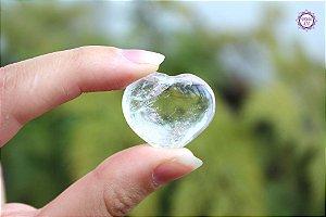 Coração de Quartzo Natural 9g | Cristal de Limpeza, Purificação e Cura