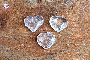 Coração de Quartzo Natural (aprox 8g) | Cristal de Limpeza, Purificação e Cura