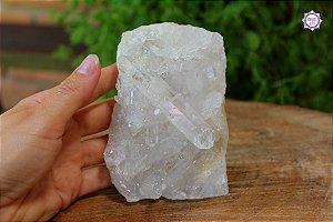 Drusa de Quartzo 645g | Cristal de Limpeza, Purificação e Cura