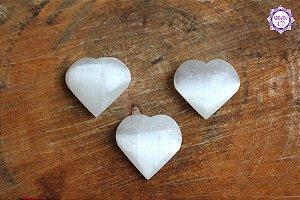Coração de Selenita (de 25g a 30g) | Pedra de Ativação Espiritual