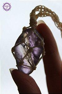 Castroado de Ametrino com Cordão Ajustável | Cristal da Clareza Mental e Espiritual