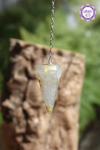 Pêndulo de Quartzo Rutilado | Cristal da Percepção Expandida e Manifestação