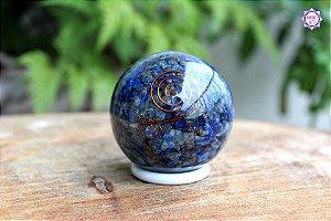 Orgonite Esfera Lápis-Lazúli | Viagens Meditativas e Projeção Astral