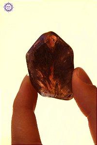 Cristal Super Seven Polido 18g |Cacoxenita| Pedra Metafísica, Limpeza e Purificação Espiritual