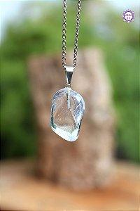 Pingente de Quartzo (Pino Prateado) | Cristal de Limpeza, Purificação e Cura