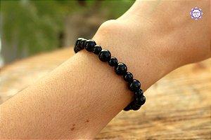 Pulseira de Obsidiana Negra para Proteção Pessoal e Eliminação da Negatividade