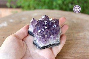 Drusa de Ametista 152g   Cristal de Proteção, Transmutação e Comunicação Divina