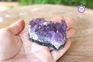 Drusa de Ametista 84g   Cristal de Proteção, Transmutação e Comunicação Divina