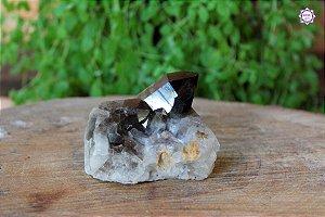 Drusa de Quartzo Fumê 276g | Cristal para Proteção do Campo Energético