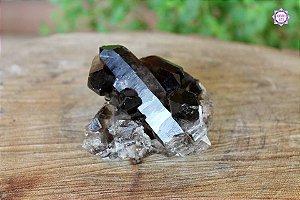 Drusa de Quartzo Fumê 186g | Cristal para Proteção do Campo Energético