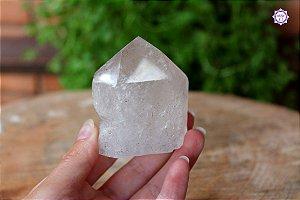Ponta de Quartzo Bruta 6 cm 194g | Cristal de Limpeza, Purificação e Cura