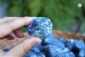 Quartzo Azul Bruto (de 20g a 29g) | Cristal de Sintonia Psíquica e Força Interior
