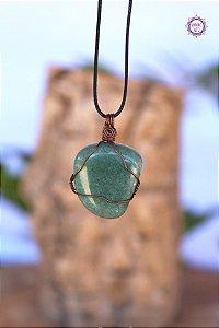 Colar Quartzo Verde com Cordão Ajustável (Arame cobreado) | Cristal de Cura e Manifestação