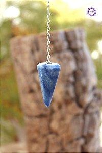 Pêndulo de Quartzo Azul | Cristal de Sintonia Psíquica e Força Interior