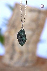 Pingente Pedrinha Esmeralda (Prata 950) | Pedra do Amor Divino, Cura e Prosperidade