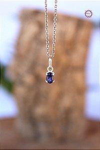 Pingente Luz de Safira Azul (Prata 950) | Cristal de Ativação Psíquica e Percepção Extrassensorial