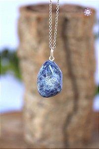 Pingente de Sodalita (Prata 950) | Pedra do Insight e Intuição