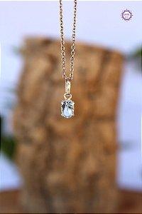Pingente Luz de Topázio Azul (Prata 950) | Cristal da Comunicação Clara e Intuitiva