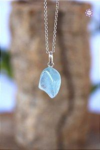 Pingente Pedrinha Topázio Azul (Prata 950) | Cristal da Comunicação Clara e Intuitiva