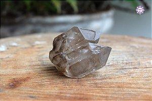 Quartzo Fumê Elestial 155g | Cristal para Proteção do Campo Energético | Formação Especial