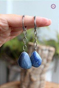 Chaveiro de Quartzo Azul | Cristal de Sintonia Psíquica e Força Interior