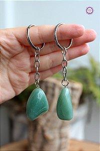 Chaveiro de Quartzo Verde | Cristal de Cura e Limpeza Emocional