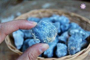 Calcita Azul Bruta Especial (2 a 3 cm a unidade) | Pedra da Inspiração Criativa e Habilidades Mediúnicas