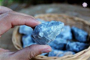 Calcita Azul Bruta Especial (3 a 4 cm a unidade) | Pedra da Inspiração Criativa e Habilidades Mediúnicas