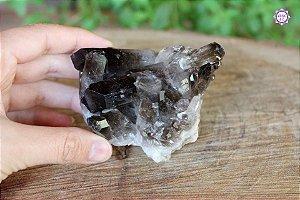 Drusa de Quartzo Fumê 191g | Cristal para Proteção do Campo Energético