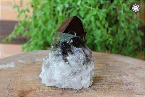 Drusa de Quartzo Fumê 629g | Cristal para Proteção do Campo Energético