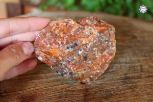Calcita Laranja Bruta 180g | Pedra para Criatividade e Autoconfiança