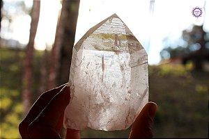 Cristal Lemuriano Especial 293g com 10 cm | Cristal de Ligação com o Sagrado Feminino e Unidade com a Alma
