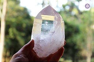Cristal Lemuriano Especial 412g com 10 cm | Cristal de Ligação com o Sagrado Feminino e Unidade com a Alma