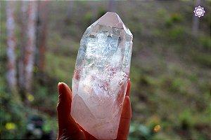 Cristal Lemuriano Especial 413g com 13,5 cm | Cristal de Ligação com o Sagrado Feminino e Unidade com a Alma