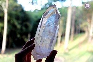 Cristal Lemuriano Especial (Gêmeos) 351g com 12 cm | Cristal de Ligação com o Sagrado Feminino e Unidade com a Alma