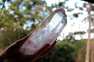 Cristal Lemuriano Especial (Gêmeos) 585g com 15,5 cm | Cristal de Ligação com o Sagrado Feminino e Unidade com a Alma