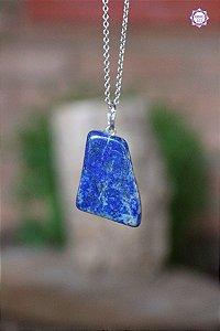 Pingente Pedrinha Lápis-Lazúli (Prata 950) | Pedra da Visão Interior e Comunicação Verdadeira