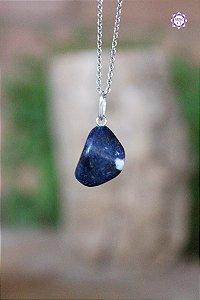 Pingente Pedrinha Sodalita (Prata 950) | Pedra do Insight e Intuição