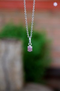 Pingente Luz de Turmalina Rosa (Prata 950) | Pedra do Amor e Cura Emocional