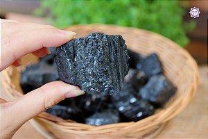 Turmalina Negra Bruta (de 80g a 100g a unidade)| Pedra de Proteção e Purificação