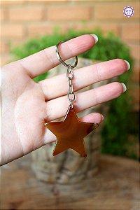 Chaveiro Estrela Ágata de Fogo | Pedra da Criatividade e Vitalidade