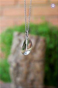 Pingente de Citrino Natural (Prata 950) | Cristal da Manifestação, Prosperidade e Criatividade
