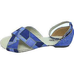Rasteirinha Jeans Azul MegaChic