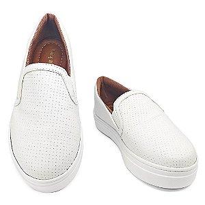 Slip On Branco Confort  MegaChic
