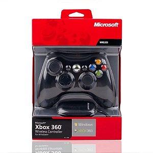 Controle Xbox 360 Com Adaptador Para PC Microsoft