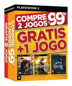 Combo Pack 01 - Dead Island Riptide - Sniper Ghost Warrior - Thief - Ps3