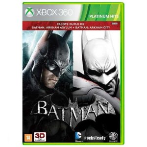 Jogo Batman Arkham Asylum + Batman Arkham City Xbox 360