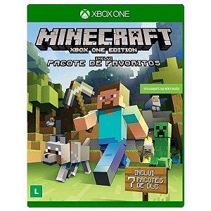 Jogo Minecraft + Pacote de Favoritos - Xbox One